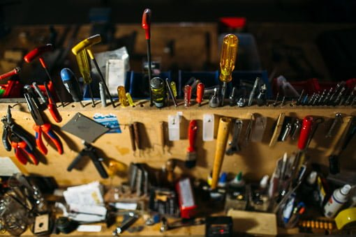 The tools used to repair guitars in Brisbane by Chris Melville